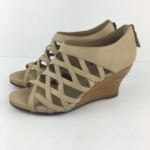 Eileen Fisher Beige Wedge Sandals